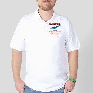 Birding vs. Politics Golf Shirt