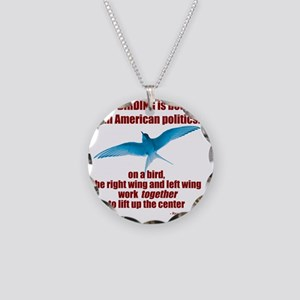 Birding vs. Politics Necklace Circle Charm