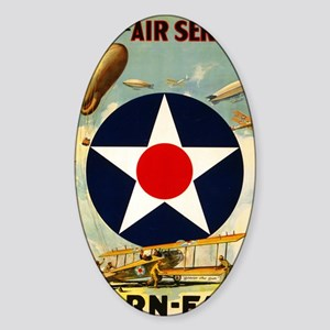 WWII Join the Air Service/Air Force Sticker (Oval)