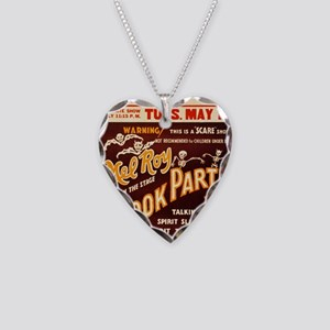 Vintage Halloween Party Necklace Heart Charm