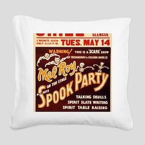 Vintage Halloween Party Square Canvas Pillow