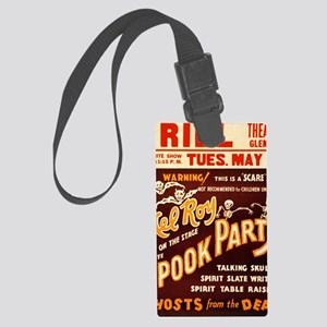 Vintage Halloween Party Large Luggage Tag