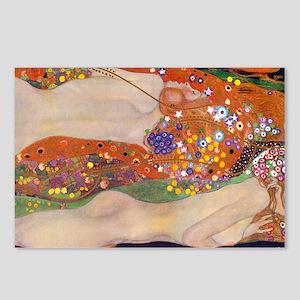 Gustav Klimt Water Serpen Postcards (Package of 8)