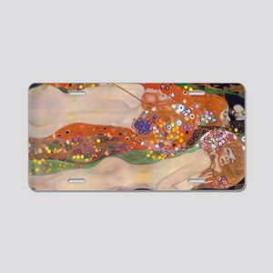 Gustav Klimt Water Serpents Aluminum License Plate