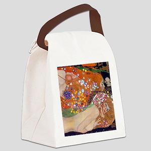 Gustav Klimt Water Serpents Canvas Lunch Bag