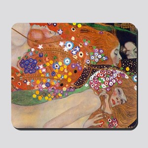 Gustav Klimt Water Serpents Mousepad