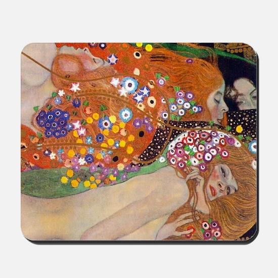 Gustav Klimt Water Serpents Mousepad