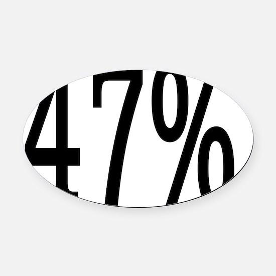 47 Percent Oval Car Magnet