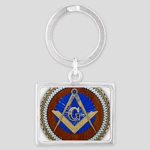 Freemasonry Landscape Keychain