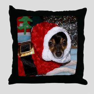 CharlieXmasBlanket Throw Pillow
