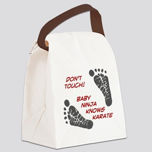 Dont Touch Baby Canvas Lunch Bag