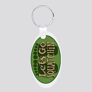lets go Aluminum Oval Keychain