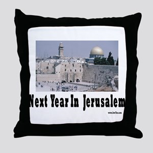 Next Year In Jerusalem Throw Pillow