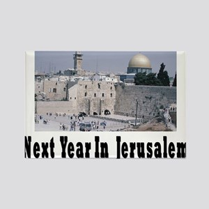 Next Year In Jerusalem Rectangle Magnet