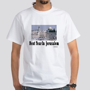 Next Year In Jerusalem White T-Shirt