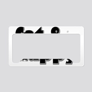 fathappyrectangle License Plate Holder