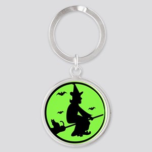 Good Witch Round Keychain