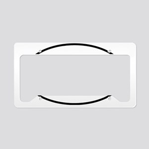fathappyoval License Plate Holder