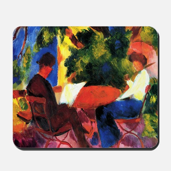 Couple At The Garden Table Mousepad