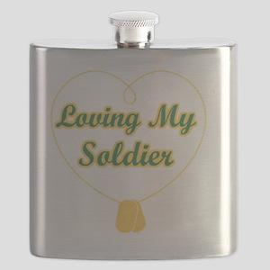 Loving My Soldier Flask