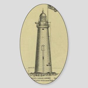 Minot's Ledge Light Sticker (Oval)