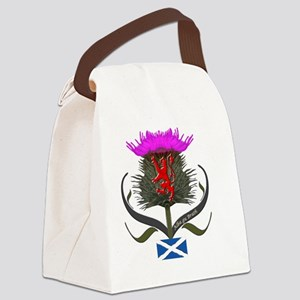 Scotland thistle lion and saltire Canvas Lunch Bag
