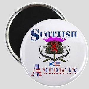 Scottish American Thistle Design Magnet