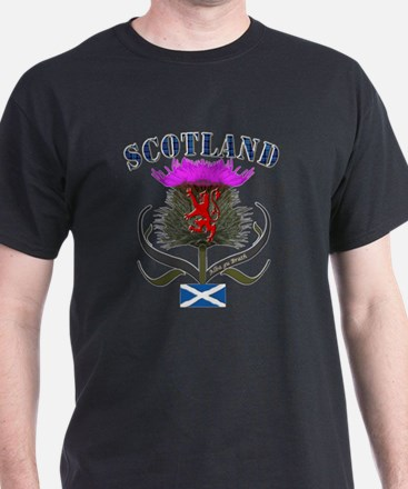 Tartan Scotland thistle lion saltire T-Shirt