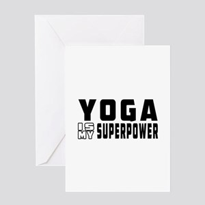 Yoga Is My Superpower Greeting Card