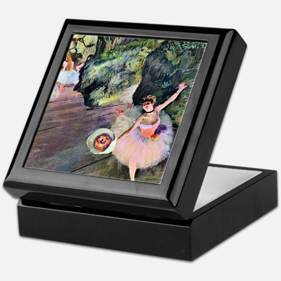 Edgar Degas Dancer With Flowers Keepsake Box