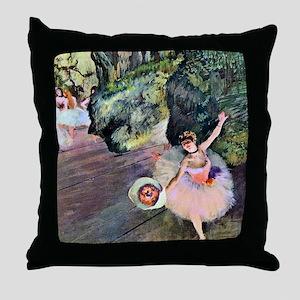 Edgar Degas Dancer With Flowers Throw Pillow