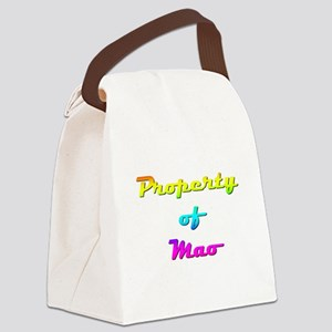 Property Of Mao Female Canvas Lunch Bag