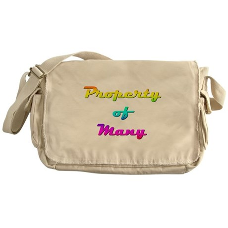 Property Of Many Female Messenger Bag