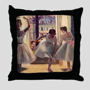Edgar Degas Three Dancers In A Practi Throw Pillow