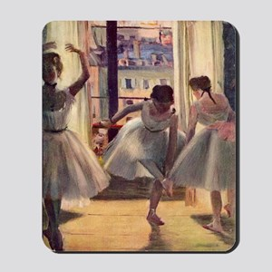 Edgar Degas Three Dancers In A Practice  Mousepad