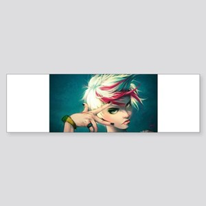bad anime girl Bumper Sticker