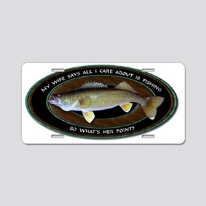 Walleye Aluminum License Plate