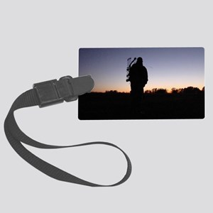 Hunter at Sunset Large Luggage Tag