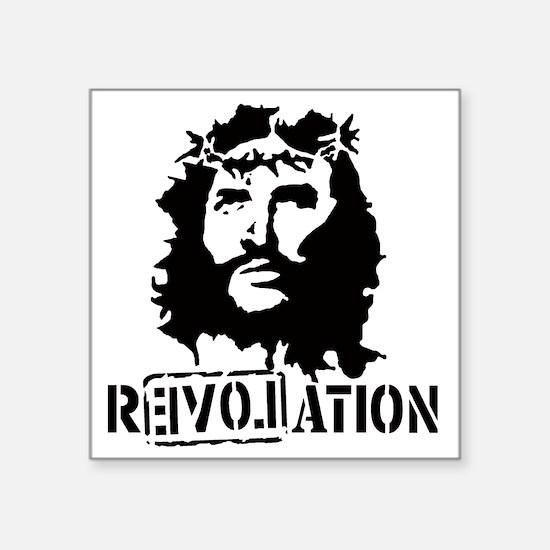 """Jesus Christ Revolation Square Sticker 3"""" x 3"""""""