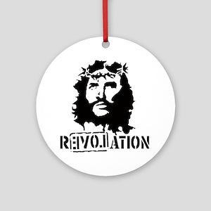 Jesus Christ Revolation Round Ornament
