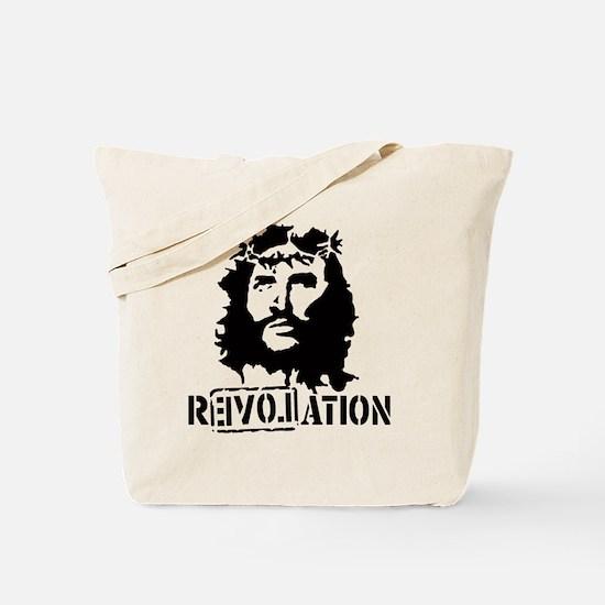 Jesus Christ Revolation Tote Bag