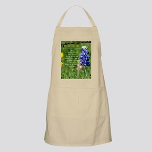 bluebpnnet poem Apron