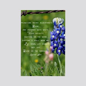 bluebpnnet poem Rectangle Magnet