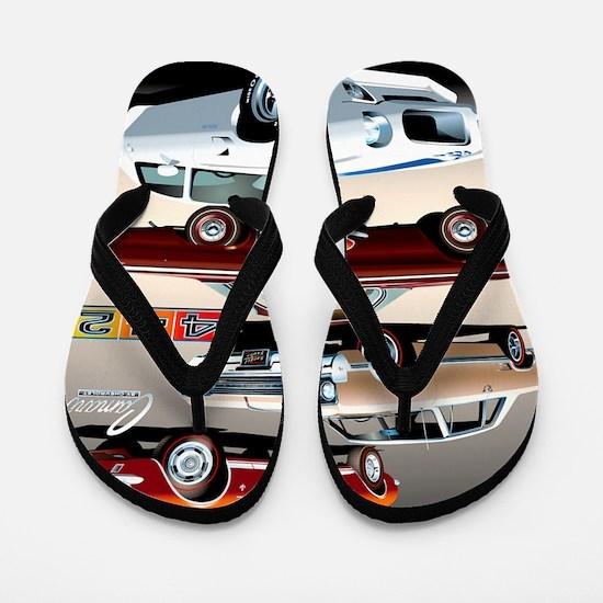 1960s Muscle Cars Flip Flops