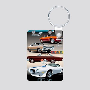 1960s Muscle Cars Aluminum Photo Keychain