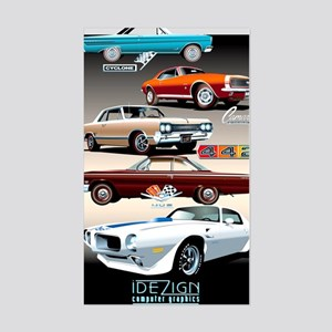 Muscle Cars Rectangle Stickers Cafepress