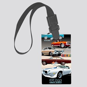 1960s Muscle Cars Large Luggage Tag