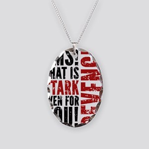 Revenge Stark Even For You Necklace Oval Charm