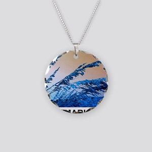 blue seagrass Necklace Circle Charm