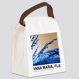 blue seagrass Canvas Lunch Bag